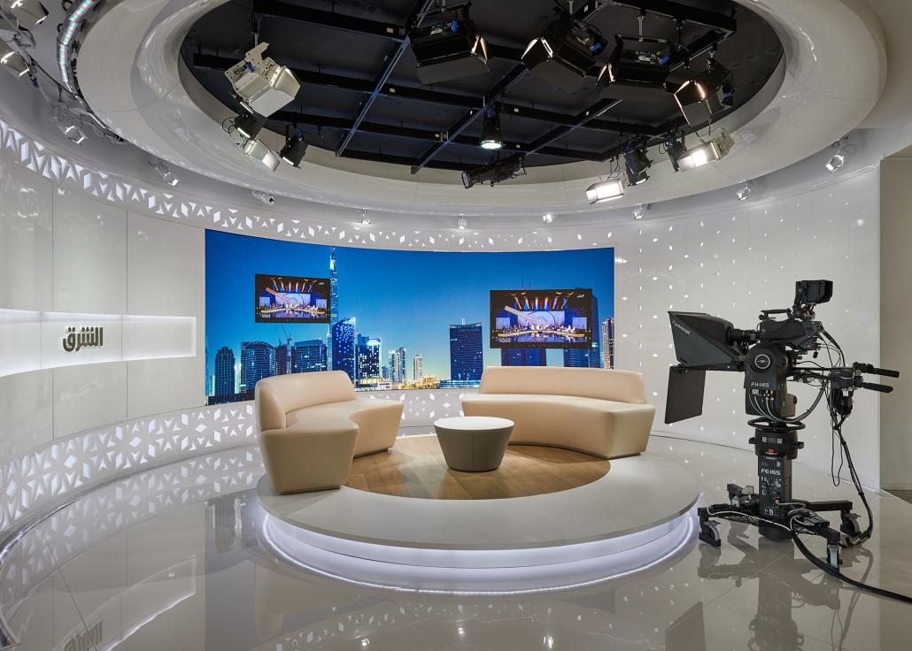 Studio at Asharq News in Dubai