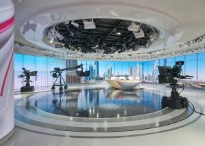 News studio at Asharq News in Dubai