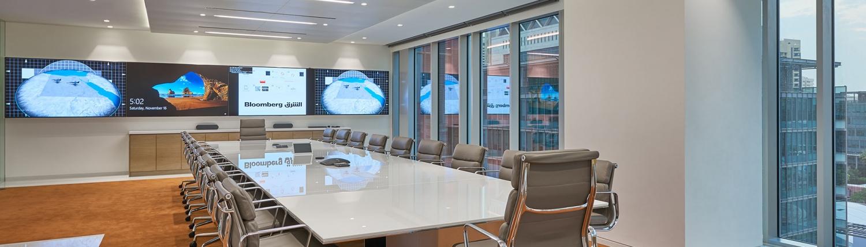 Editorial meeting office Asharq News in Dubai
