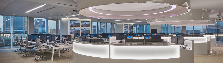 Newsroom at Asharq News in Dubai